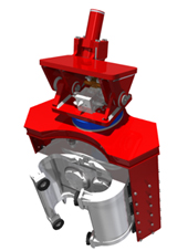 Side Grip for Sheet Pile Driver - Front View