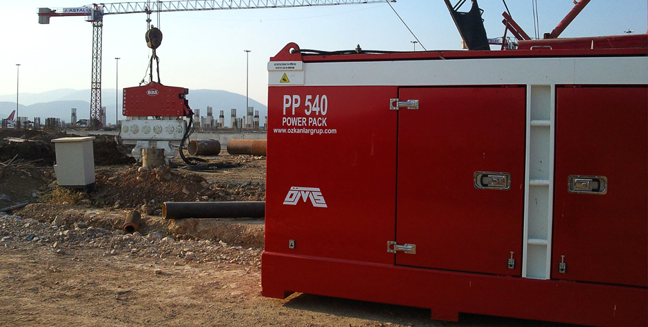 Hydraulic Power Packs on Jobsite