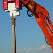Excavator Mounted Vibratory Pile Drivers