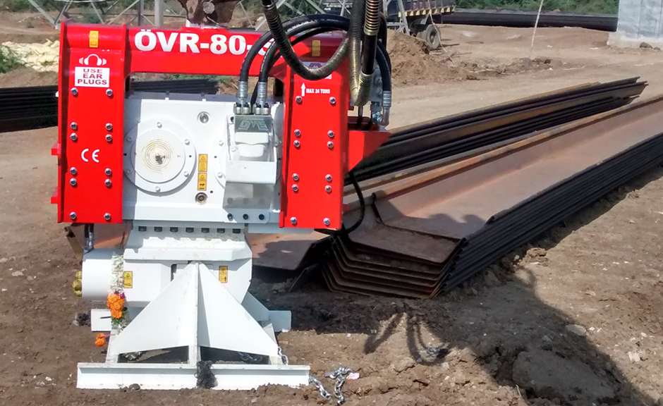 Excavator Mounted Vibro Hammer OVR 80 S in India Project
