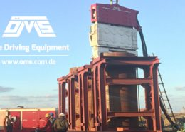 Crane Suspended Vibro Hammer SVR 101 NF-Suez Canal in Egypt