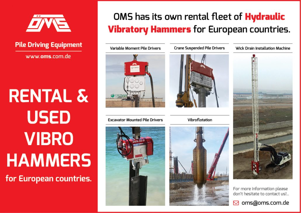 OMS Rental Vibro Hammer for Temporarily Projects